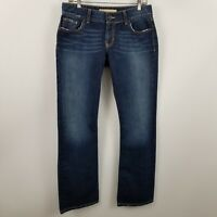 BKE Denim Buckle Culture Stretch Boot Cut Womens Dark Wash Blue Jeans Sz 30x31.5