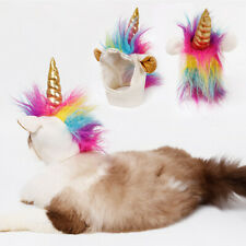 Cat Unicorn Hat For Small Dog Cat Puppy Funny Adjustabale Cosplay Hat Headgear