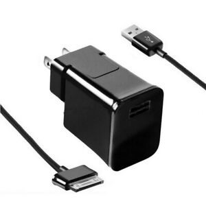Wall Adapter Charger for Samsung Galaxy Tab 2 Tablet Note 10.1 + USB Cable Cord
