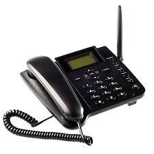 Teléfono De Escritorio Inalámbrico GSM SMS Home Quadband función de tarjeta SIM Desbloqueado móvil
