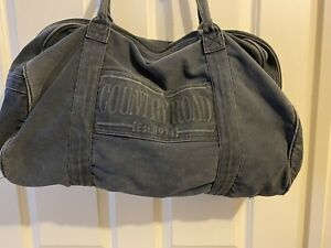 Large COUNTRY ROAD Canvas Travel/Sports/Gym/Tote/Shoulder Bag Navy Blue
