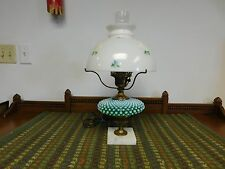 Vintage Gone With The Wind Table Lamp Green Hobnail