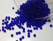 50 perles en verre ronde 4mm bleu nuit //1