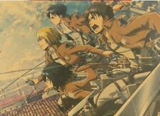 Japan Anime Attack on Titan Wall Art Poster Prints Room Home Decor 20 X 13.7inch