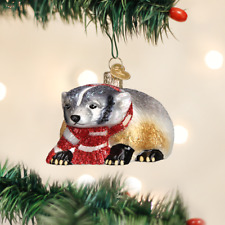 *Badger* [12442] Old World Christmas Glass Ornament - NEW