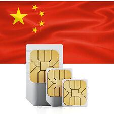 China (incl. Hongkong & Macao) Prepaid Daten SIM + 750 MB für 30 Tage