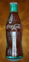 VINTAGE  Coca Cola  Bottle Embossed Taylor  Gas Station Thermometer Sign