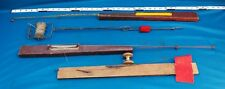 Vintage Lot of 4 Ice Fishing Tip-ups, Factory and Homemade Folk Art