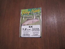Fly Fishing Frog Hair 7.5' Freshwater Tapered Leader - 6x - 3.3 lb
