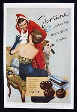 FORTUNE CHOCOLATES BY CALEY 1950s CHRISTMAS GLAMOUR MAGAZINE ADVERT 1950