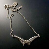 Israel Necklace Sterling Silver 925 Modernist Strange Bat Pendant handmade