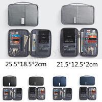 RFID Blocking Travel Storage Bag Passport Document Wallet Organizer Card Holder