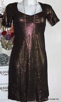 Vive Maria Kleid Dress Glam Rock black S 36 schwarz Schimmer Glitzer Viskose