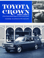 1967 1968 Toyota Crown Original Dealer Sales Brochure