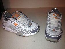 DC Skater Athletic Boys Shoes Size 6 L@@K !!! WHITE GRAY ORANGE
