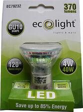 1 x SPOT LIGHT LED BULB GU10 4W (40W Equiv) WARM WHITE 3000K LED SPOTLIGHT BULB