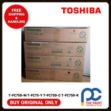 Original Toshiba TOSHIBA T-FC75D-K  T-FC75D-C T-FC75D-Y T-FC75D-M  CYMK TONER