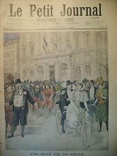 NOCE BICYCLETTE TANDEM MAIRIE DE PARIS ALGERIE TOUAT SPAHI LE PETIT JOURNAL 1897