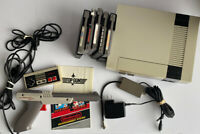 Original Nintendo Entertainment System NES-001 Console 5 Games With Gun Tested