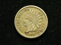 BLOW OUT SALE  VF- XF 1863 INDIAN HEAD CENT PENNY w/ DIAMONDS & FULL LIBERTY 14j