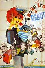AFFICHE CINEMA 1962 NOUS IRONS à DEAUVILLE SERRAULT DE FUNES BRASSEUR filmRIGAUD