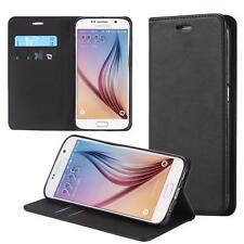 Custodia per Samsung Galaxy S6 / S6 Duos Cover Case Portafoglio Wallet Etui Nero