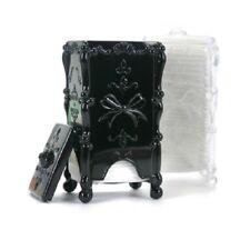 Antique Cotton Pad Stand Holder wt pads Case Table Vanity Makeup Storage Org Kor