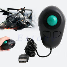 Portable Finger Handheld USB Mouse Wired Trackball Mice Tablet PC Laptop Desktop