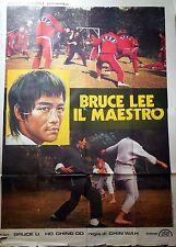 manifesto movie poster 4F BRUCE LEE IL MAESTRO CINEMA CHIN WA ARTI MARZIALI