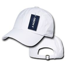 White Solid Plain Blank Washed Cotton Polo Style Low Crown Baseball Ball Cap Hat
