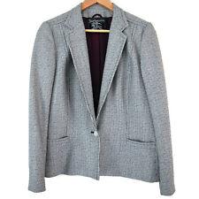 Vintage Burberrys' Womens Wool Jacket Blazer 12 - 14 White Navy Stripe Burberry
