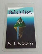 2012 REBELUTION LAMINATED BACKSTAGE PASS AA