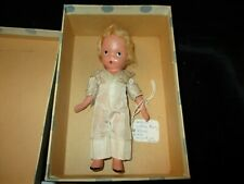 1945 Molded Bisque Sock Nasb Doll Little Boy Blue New in Original Box S706 Pd