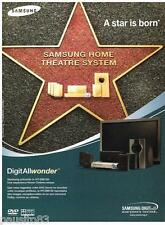 PUBLICITE ADVERTISING 095  2003  SAMSUNG  DIGIT ALLWONDER home cinema