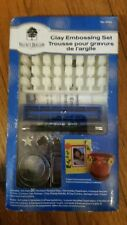 Walnut Hollow Clay Embossing Set #29414 (New)