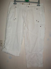 Cotton Blend Cargos Trousers for Women