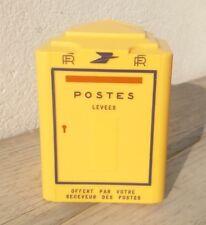 Réplique BOÎTE Aux Lettres Tirelire LA POSTE en Plastique jaune. Excellent état