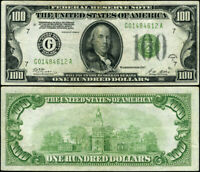 FR. 2151 G $100 1928-A Federal Reserve Note Chicago G-A Block XF DGS