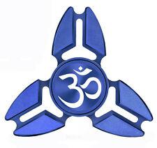 Fidget Spinner Tri-Spinner Aluminum Metal Yoga Om Symbol