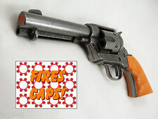 """Replica M1873 """"FAST DRAW"""" GRAY PISTOL Colt Peacemaker Auburn Grooved Grips"""