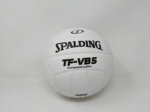 Spalding TF-VB5 Tournament Leather Volley Ball, White