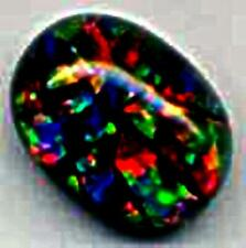 beautiful top quality fire  BLACK MOSAIC GEM OPAL lapidary discount OPAL SALE