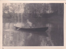 1956 Nude muscle young man in boat gay interest old Russian photo