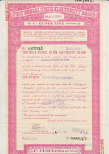 1972 India West Bengal State Electricity Board 25,000 Rupee Bond Calcutta Nice