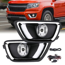 for 2015-2018 Chevy Colorado Clear Bumper Fog Lights Lamps w/ Wiring+Switch PAIR