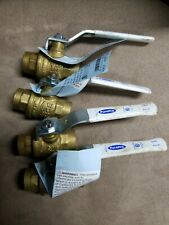 Lot of (4) 1/2 Inch Sweat Lead Free Ball Valves
