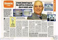 Coupure de presse Clipping 1986 (2 pages) Armand Jammot  chiffres et des lettres
