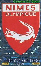 407 ECUSSON BADGE LOGO NIMES OLYMPIQUE VIGNETTE METAL STICKER FOOT 2001 PANINI