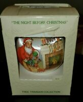 Vintage 1979 Hallmark The Night Before Christmas Satin Ball Ornament Santa Box
