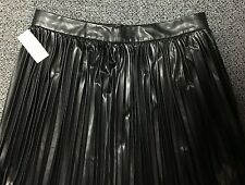 NWT WOMEN'S BANANA REPUBLIC PLEATED FAUX LEATHER LINED MIDI SKIRT, SIZE 12